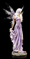 Fairy Figurine - Lauren in purple Summer Dress