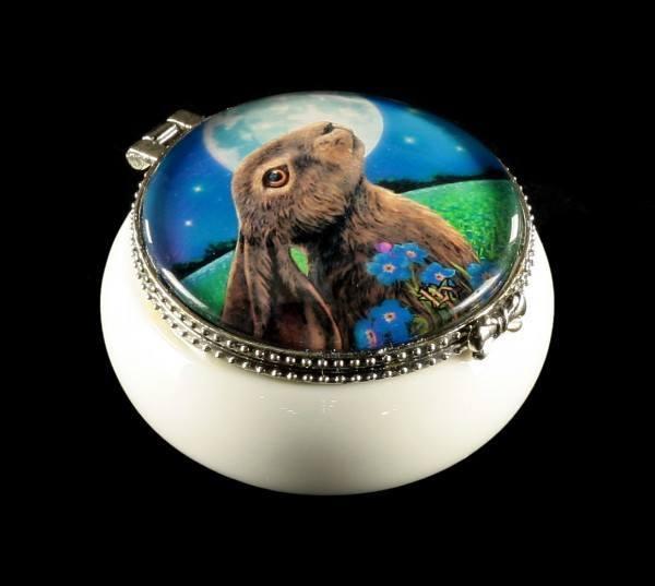 Kleines Schmuckdöschen Hase - Moongazing Hare