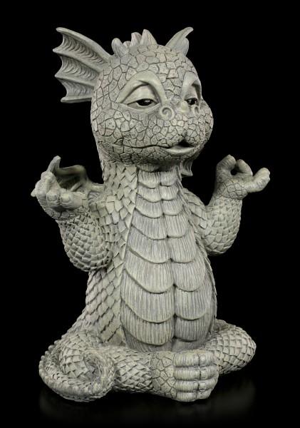 Drachen Gartenfigur - Meditation