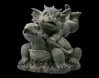 Garden Figurine - Dragon with Turtle