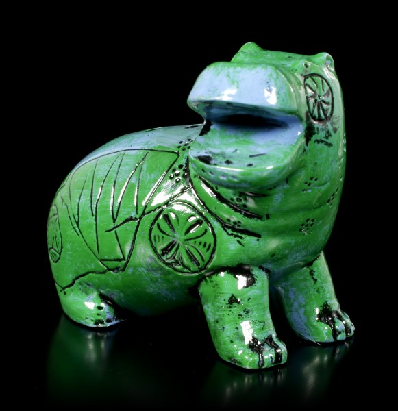 Ancient Egyptian Figurine - Green-Blue Hippo