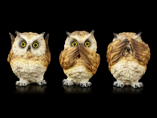 Owl Figurines - The Three Wise