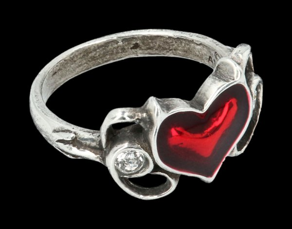 Alchemy Gothic Ring - Little Devil Heart