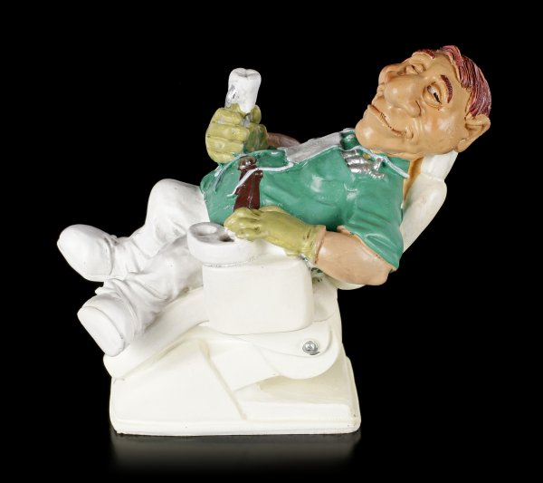 Funny Job Figurine - Dentist treats himself