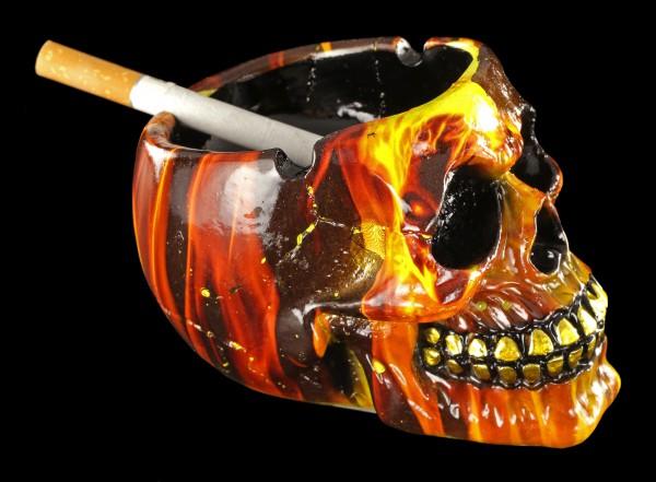 Kleiner Totenkopf Aschenbecher - Hellfire