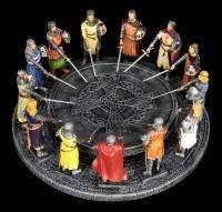 Round Table - King Arthur with 12 Knights - colored