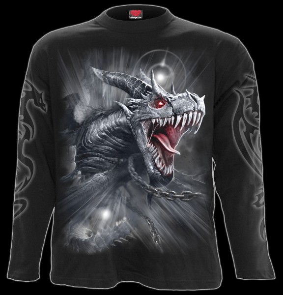 Langarmshirt Drache - Dragon's Cry