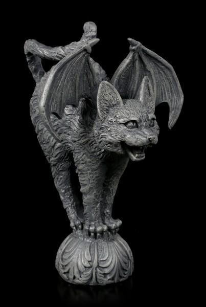 Gargoyle Katze mit Fledermausflügeln