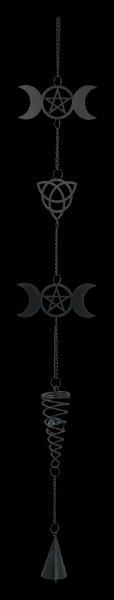 Metall Windspiel - Dreifach Mond
