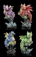 Dragon Figurines Set of 4 - Dragonling Brood
