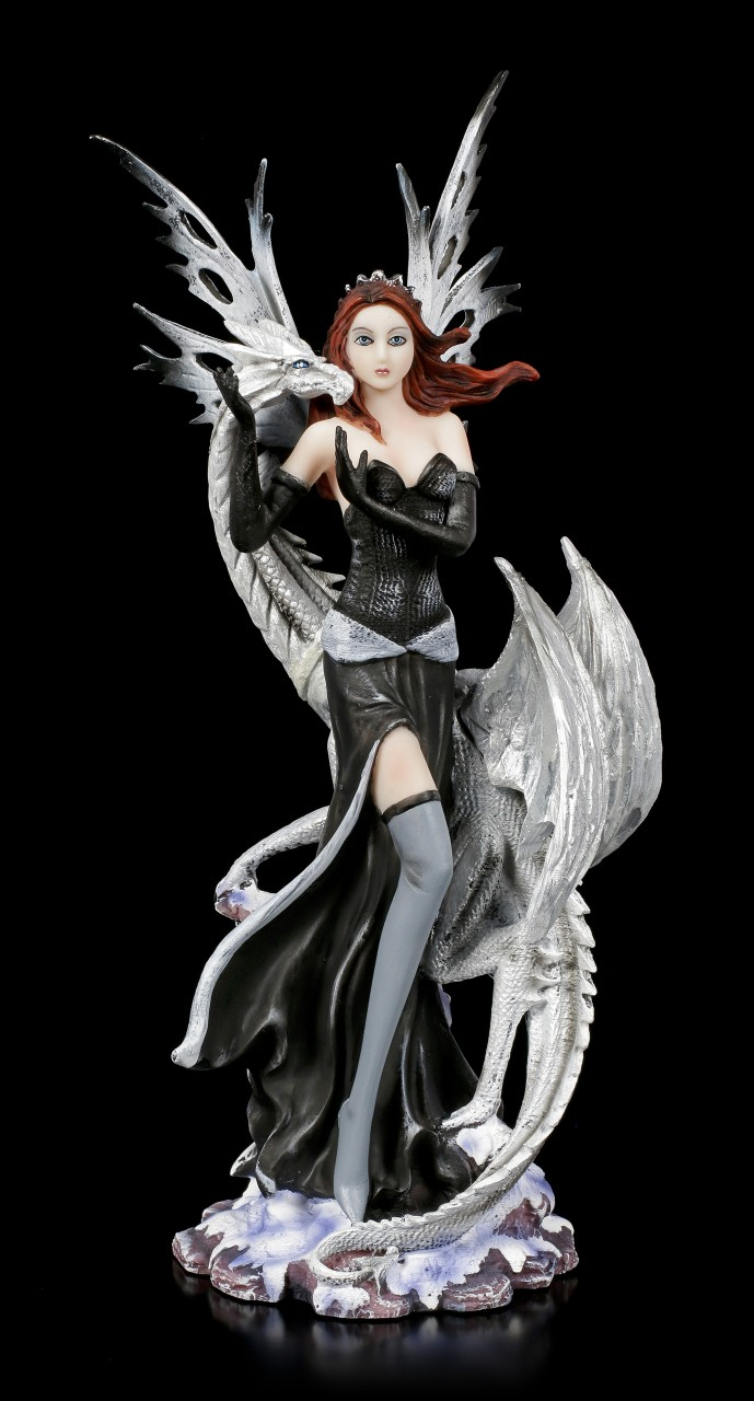 Fairy Figurine - Alba with white Dragon