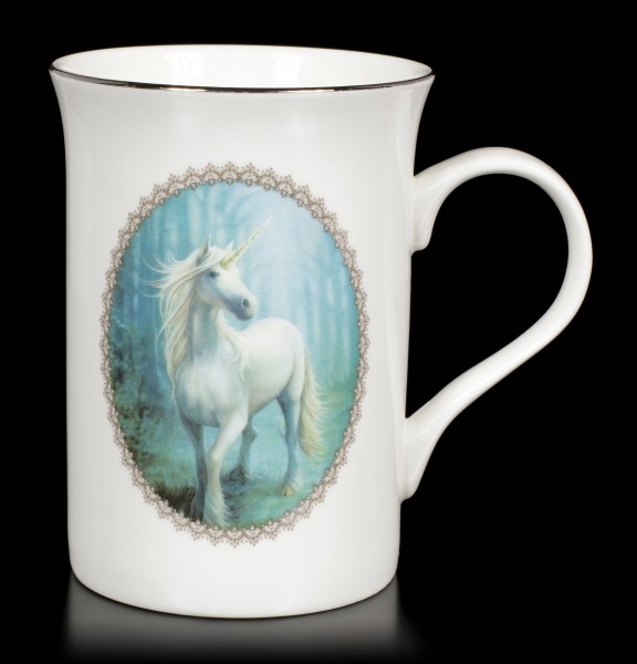 Tasse mit Einhorn - Forest Unicorn by Anne Stokes