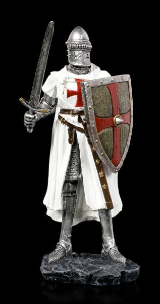 German Crusader Figurine with Sword and Shield