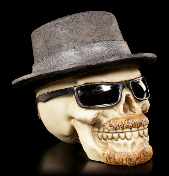 Skull with Hat and Sun Glasses - Badass small