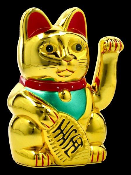 Winkende Glücks-Katzen Figur - Maneki Neko