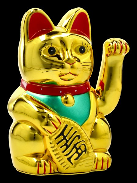 Lucky Money Cat Figurine - Maneki Neko