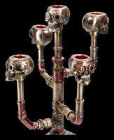 Candle Holder Steampunk Skull - Cranial Candelabra