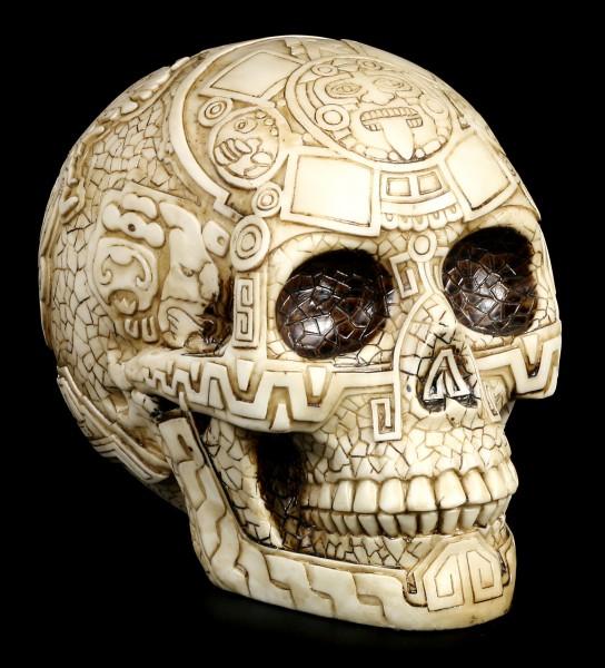Totenkopf mit Azteken Verzierungen