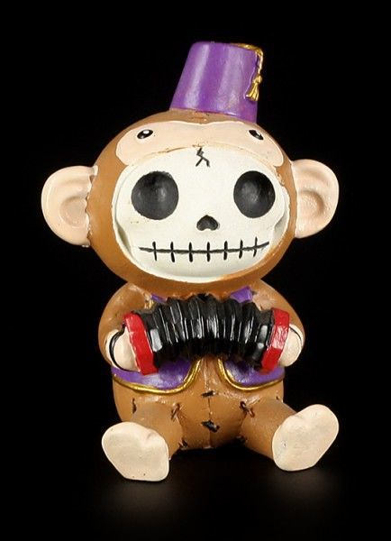 Munky with Hat - Furry Bones Figure