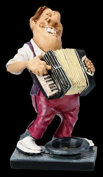 Funny Job Figurine - Street Musician with Accordion