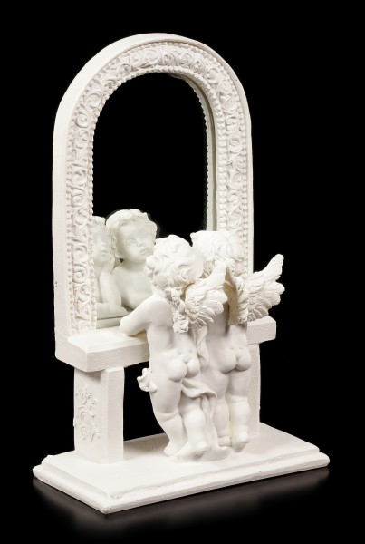 Engel Figuren mit Spiegel - Blick in die Unendlichkeit