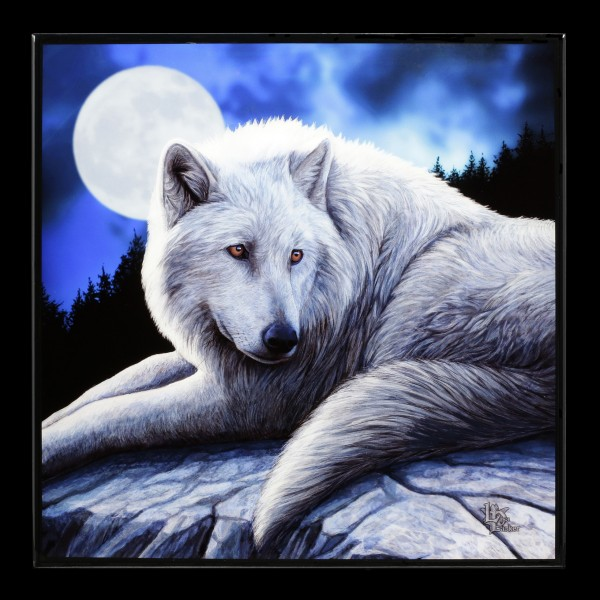 Small Crystal Clear Picture with Wolf - Guardian of the North