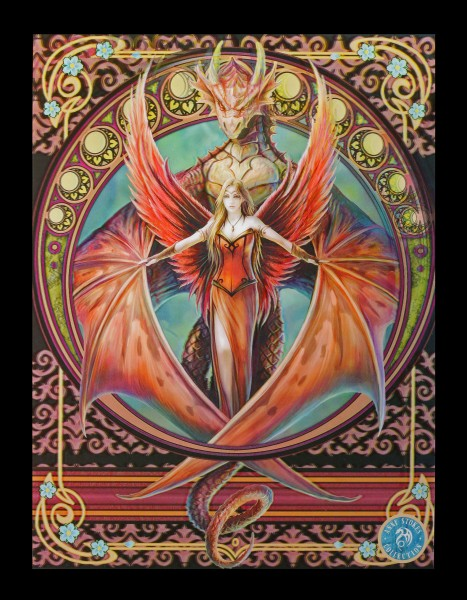 3D Picture with Fairy and Dragon - Copper Wing