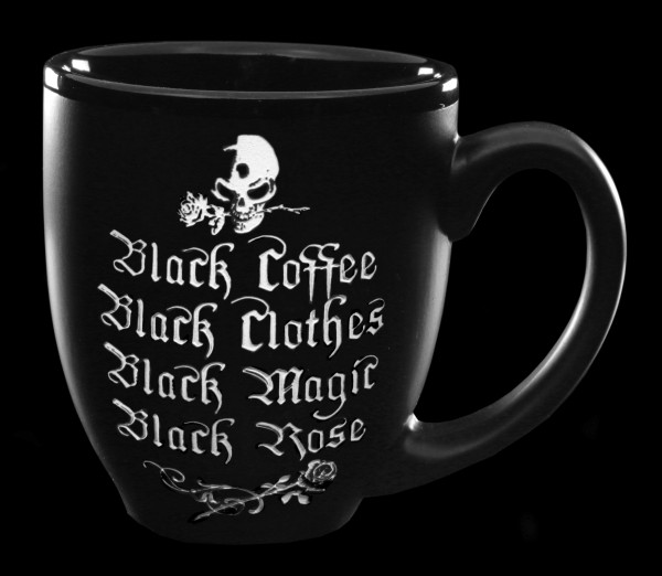 Alchemy Gothic Tasse - Black Coffee, Black Rose