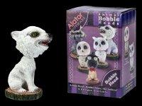 Bobble Head Figurine - Winter Wolf Cub