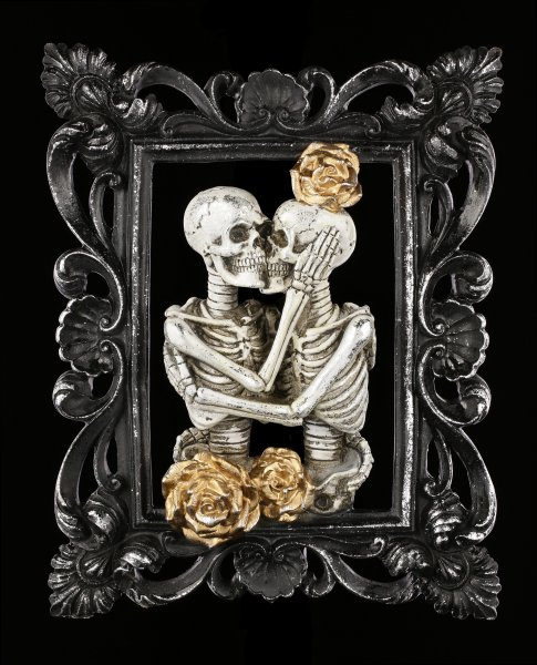 Wall Plaque Skeleton - Couple Portrait