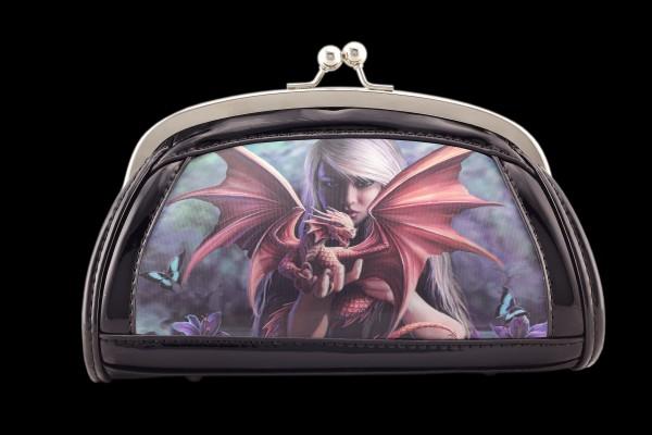 Lack Abend-Handtasche mit 3D Motiv - Dragonkin