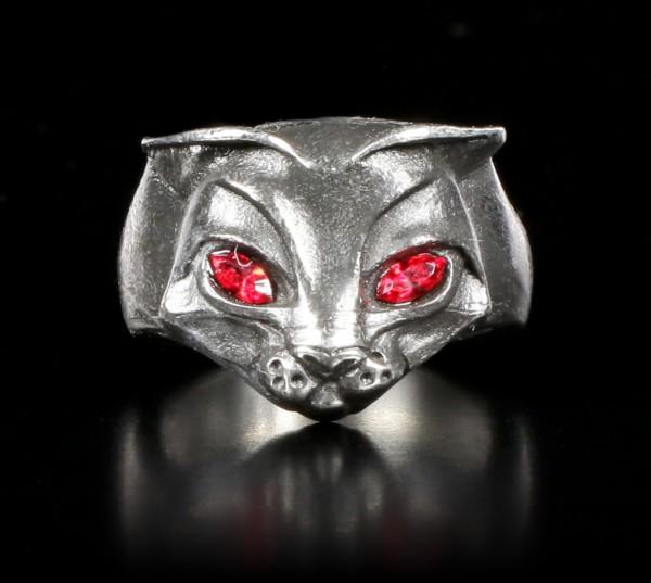 Alchemy Gothic Cat Ring - Bastet Goddess