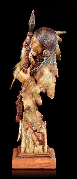 Indianer Büste - Krieger mit Speer