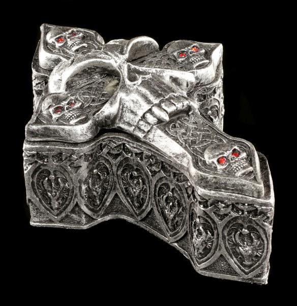 Totenkopf Schatulle - Keltisches Kreuz