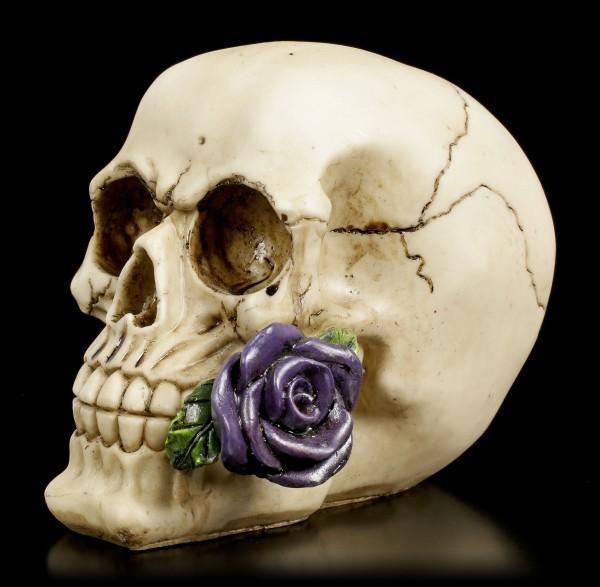 Skull - Rose from the Dead - purple
