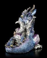 Drachen Figur - Blue Heart