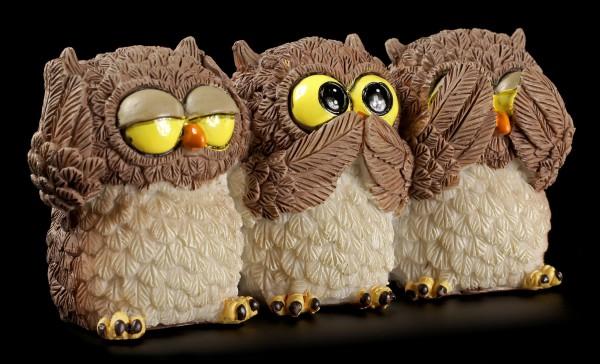"""Funny Owl Figurine - """"No Evil..."""""""