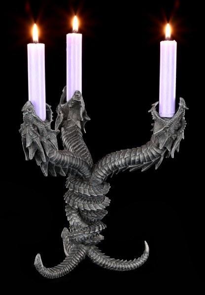 Drachen Kerzenhalter - Hydra