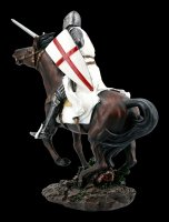 Templar Knight Figurine on Horse with Sword