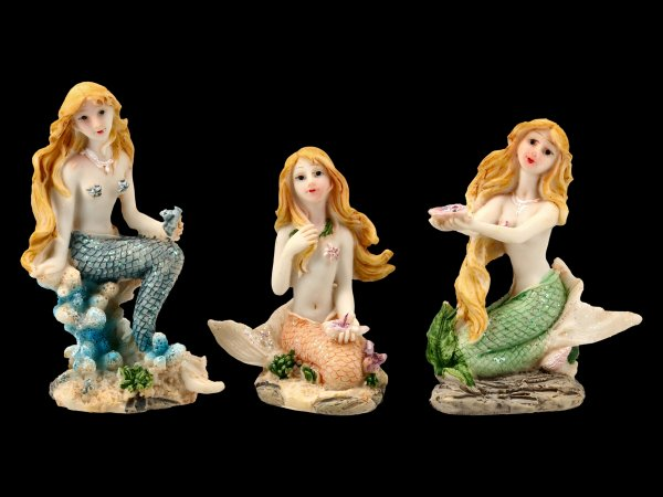 Little Mermaid Figurines - Set of 3
