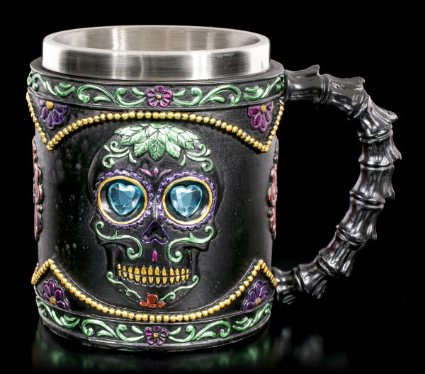 Day of the Dead Krug - Black Blossom