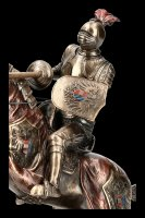 German Knight with Horse and Lance - left