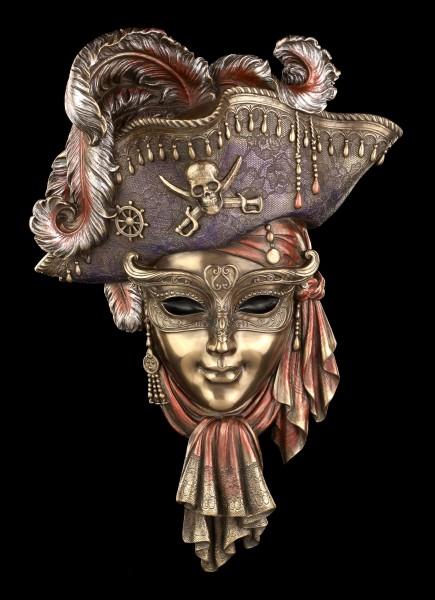 Venezianische Maske - Pirat