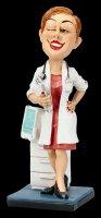 Funny Job Figur - Ärztin mit Klemmbrett