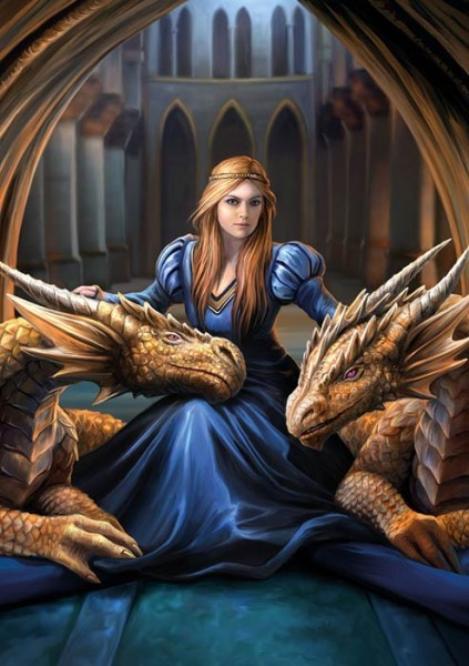 Greeting Card with Dragons - Fierce Loyalty