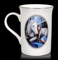 Tasse mit Einhorn - Blue Moon by Anne Stokes