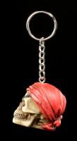 Skull Keyring - Pirate Head