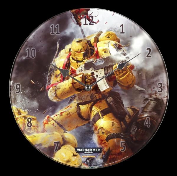 Glas Wanduhr Warhammer - Imperial Fists