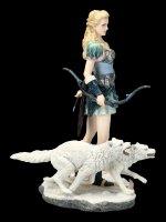 Skadi Figurine with Wolves - Nordic Winter Goddess