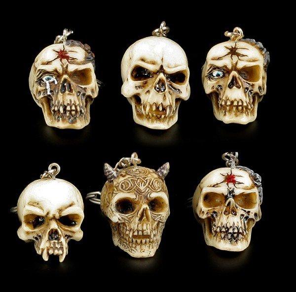 Skull Key Hanger - Set of 6